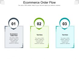 Ecommerce Order Flow Ppt Powerpoint Presentation Show Graphics Download Cpb