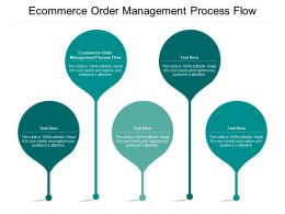 Ecommerce Order Management Process Flow Ppt Powerpoint Presentation Pictures Outline Cpb