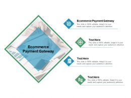Ecommerce Payment Gateway Ppt Powerpoint Presentation Model Image Cpb