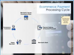 Ecommerce Payment Processing Cycle Customers Ppt Powerpoint Presentation Styles