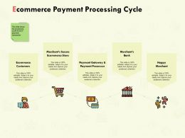 Ecommerce Payment Processing Cycle Ppt Powerpoint Presentation Styles
