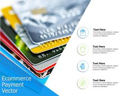 Ecommerce Payment Vector Finance Ppt Powerpoint Presentation File Inspiration