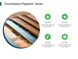 Ecommerce Payment Vector Icons Ppt Powerpoint Presentation Portfolio Rules