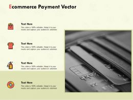 Ecommerce Payment Vector Ppt Powerpoint Presentation Summary