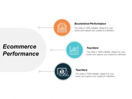 Ecommerce Performance Ppt Powerpoint Presentation Model Example Topics Cpb