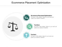 Ecommerce Placement Optimization Ppt Powerpoint Presentation Gallery Files Cpb