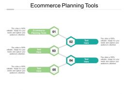 Ecommerce Planning Tools Ppt Powerpoint Presentation Summary Graphics Cpb