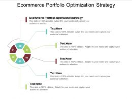 Ecommerce Portfolio Optimization Strategy Ppt Powerpoint Presentation Infographic Template Cpb