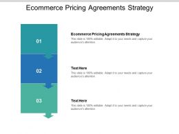 Ecommerce Pricing Agreements Strategy Ppt Powerpoint Presentation Icon Cpb