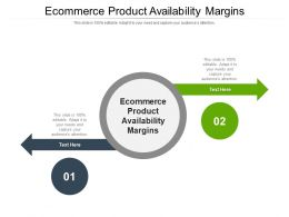 Ecommerce Product Availability Margins Ppt Powerpoint File Professional Cpb