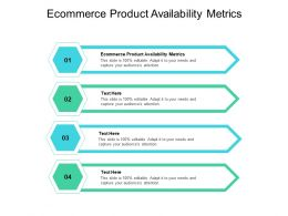 Ecommerce Product Availability Metrics Ppt Powerpoint Presentation Images Cpb