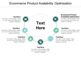 Ecommerce Product Availability Optimization Ppt Powerpoint Presentation Gallery Icon Cpb