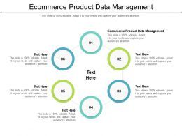 Ecommerce Product Data Management Ppt Powerpoint Presentation File Designs Cpb