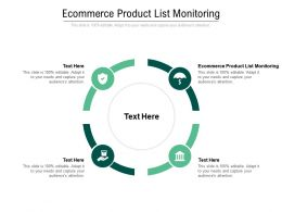 Ecommerce Product List Monitoring Ppt Powerpoint Presentation Model Infographic Template Cpb