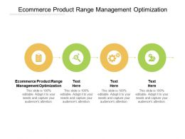Ecommerce Product Range Management Optimization Ppt Powerpoint Presentation File Pictures Cpb