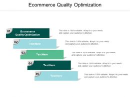 Ecommerce Quality Optimization Ppt Powerpoint Presentation Gallery Ideas Cpb