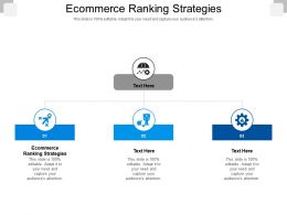 Ecommerce Ranking Strategies Ppt Powerpoint Presentation Slides Example File Cpb