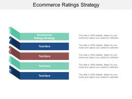 Ecommerce Ratings Strategy Ppt Powerpoint Presentation Styles Slide Download Cpb