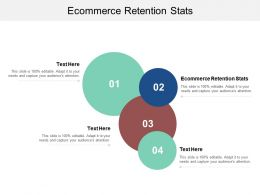 Ecommerce Retention Stats Ppt Powerpoint Presentation Styles Slides Cpb