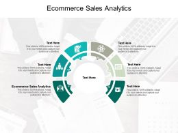 Ecommerce Sales Analytics Ppt Powerpoint Presentation Infographic Template Picture Cpb