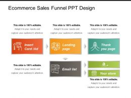 Ecommerce Sales Funnel Ppt Design