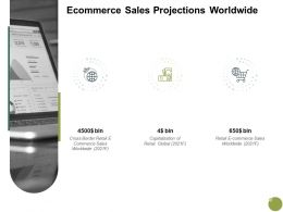 Ecommerce Sales Projections Worldwide Finance A702 Ppt Powerpoint Presentation Gallery Display
