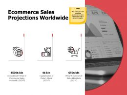 Ecommerce Sales Projections Worldwide Globe A580 Ppt Powerpoint Presentation Infographic Template