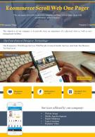 Ecommerce Scroll Web One Pager Presentation Report Infographic PPT PDF Document