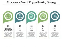 Ecommerce Search Engine Ranking Strategy Ppt Powerpoint Presentation Gallery Professional Cpb