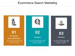 Ecommerce Search Marketing Ppt Powerpoint Presentation Model Slideshow Cpb