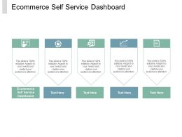 Ecommerce Self Service Dashboard Ppt Powerpoint Presentation Professional Inspiration Cpb