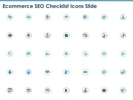 Ecommerce SEO Checklist Icons Slide Ppt Powerpoint Presentation Icon Picture