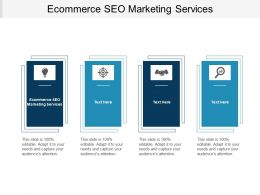 Ecommerce SEO Marketing Services Ppt Powerpoint Presentation Summary Slideshow Cpb