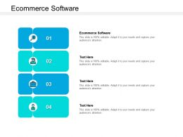 Ecommerce Software Ppt Powerpoint Presentation Summary Infographic Template Cpb