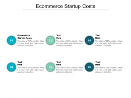 Ecommerce Startup Costs Ppt Powerpoint Presentation Inspiration Guidelines Cpb