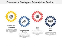 Ecommerce Strategies Subscription Service Structured Channel Sales Solution Cpb