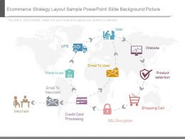 Ecommerce Strategy Layout Sample Powerpoint Slide Background Picture