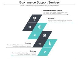 Ecommerce Support Services Ppt Powerpoint Presentation File Slideshow Cpb