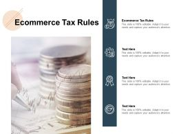 Ecommerce Tax Rules Ppt Powerpoint Presentation Icon Layout Ideas Cpb