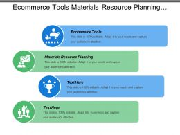 Ecommerce Tools Materials Resource Planning Niche Strategies Sampling Promotion