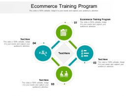 Ecommerce Training Program Ppt Powerpoint Presentation Infographics Icon Cpb