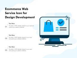 Ecommerce Web Service Icon For Design Development