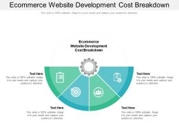 Ecommerce Website Development Cost Breakdown Ppt Powerpoint Presentation File Format