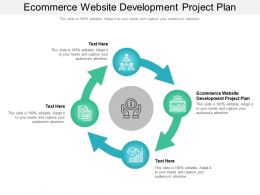 Ecommerce Website Development Project Plan Ppt Powerpoint Presentation Professional Graphics