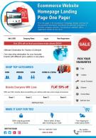 Ecommerce Website Homepage Landing Page One Pager Presentation Report Infographic PPT PDF Document