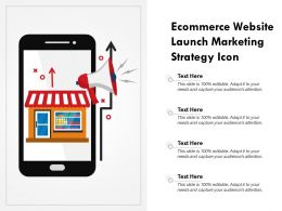 Ecommerce Website Launch Marketing Strategy Icon