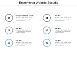 Ecommerce Website Security Ppt Powerpoint Presentation Icon Graphic Images Cpb