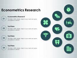 Econometrics Research Ppt Powerpoint Presentation Ideas Master Slide