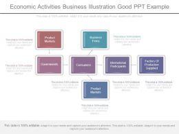Economic Activities Business Illustration Good Ppt Example