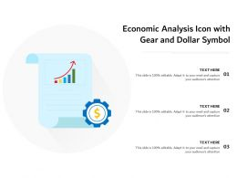 Economic Analysis Icon With Gear And Dollar Symbol